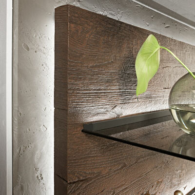 Reef wood panel with glass bottom – Hartmann solid wood furniture