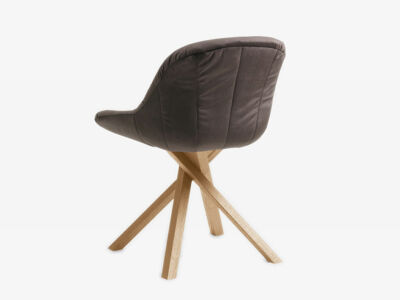Chair Anni with wooden frame - Seat and back upholstered - Elastic active suspension (back)