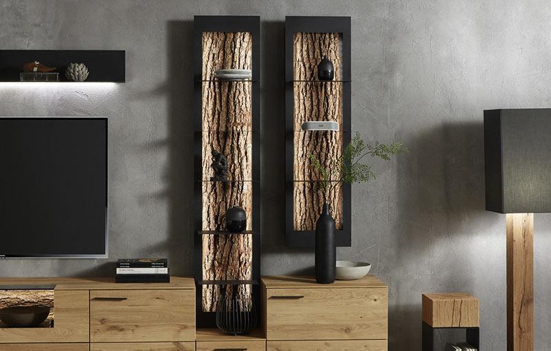 baumstamm regal fabulous regal aus baumstamm beste zu hause stilvolle und originelle lsungen fr. Black Bedroom Furniture Sets. Home Design Ideas