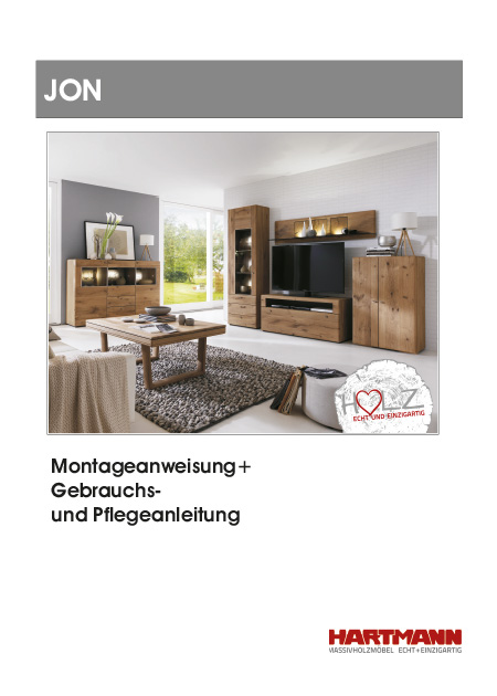 montage anweisungen hartmann m belwerke gmbh massivholzm bel made in germany. Black Bedroom Furniture Sets. Home Design Ideas