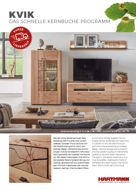 prospekte hartmann m belwerke gmbh massivholzm bel made in germany. Black Bedroom Furniture Sets. Home Design Ideas